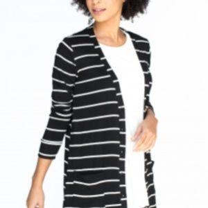 Favorite Cardi Black and White Stripe